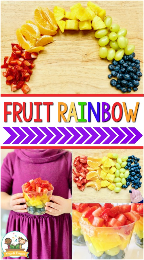 Healthy Fruit Rainbow Snack
