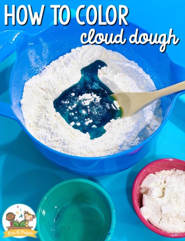 How to Color Cloud Dough