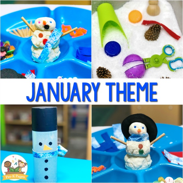 January Monthly Preschool Themes