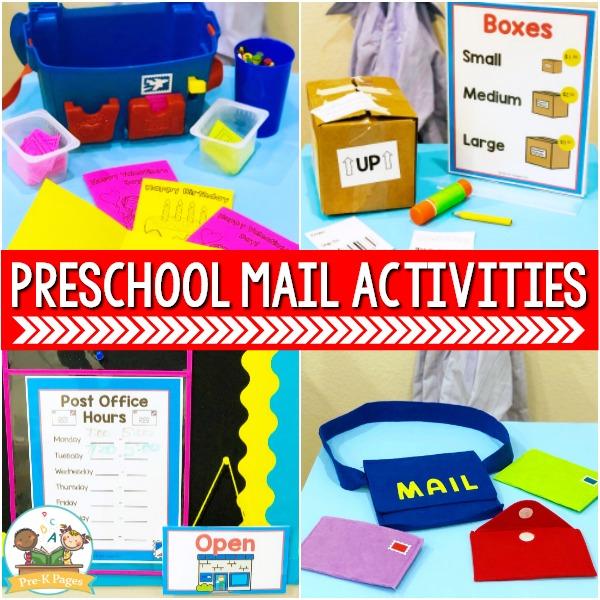Mail Theme Preschool Activities
