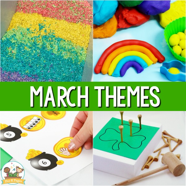March Monthly Preschool Themes