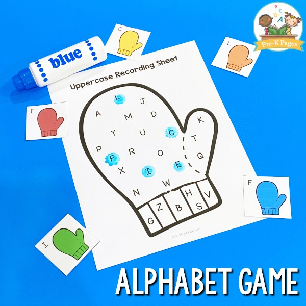 Mitten Alphabet Game for Preschool