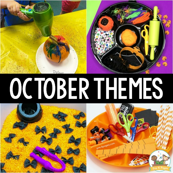 October Monthly Preschool Themes