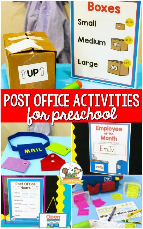 Post Office Activities for Preschool