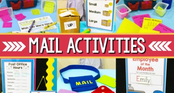 Post Office Theme Activities
