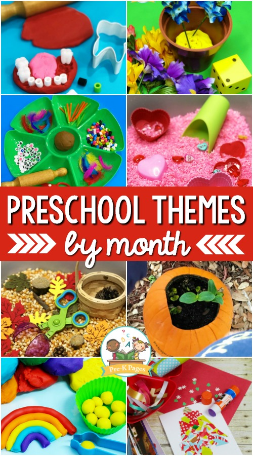Preschool Themes by Month