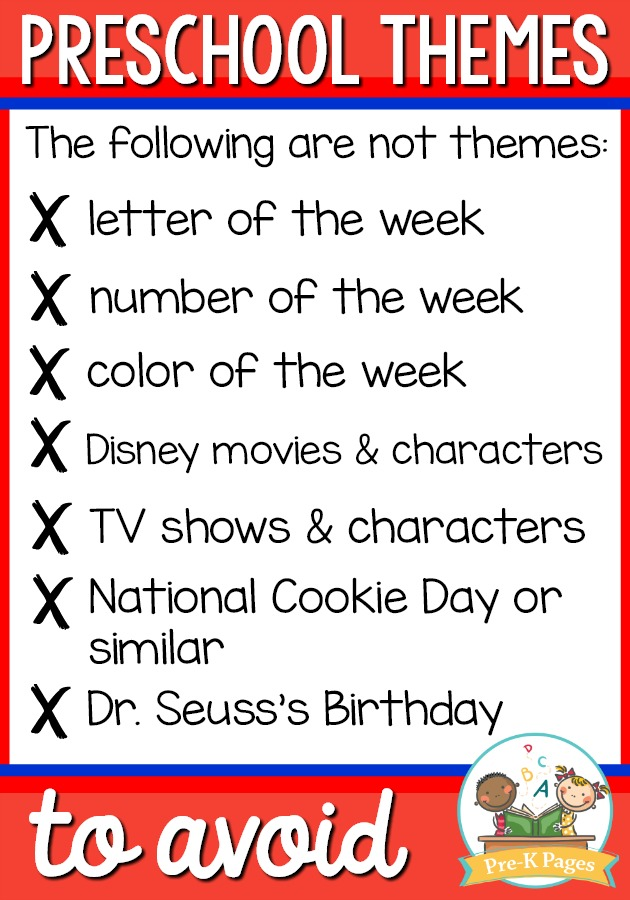 Preschool Themes to Avoid