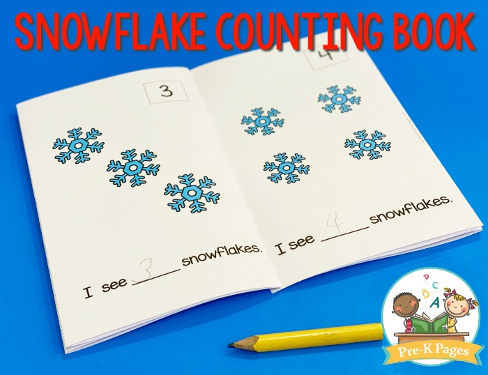 Printable Snowflake Counting Book
