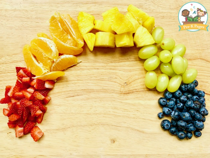 Rainbow Fruit Cup Snack for Preschoolers