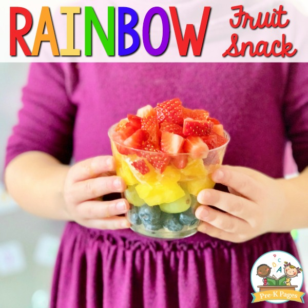 Rainbow Fruit Cup Snack