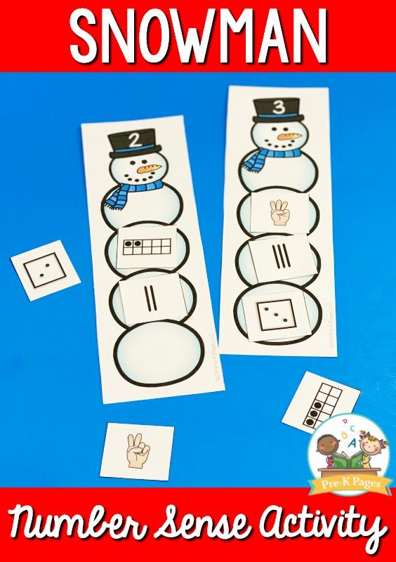 Snowman Number Sense Activity
