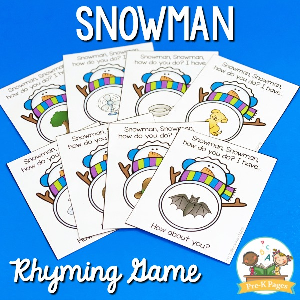 Snowman Rhyming Game