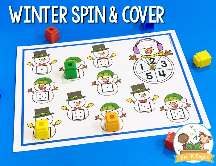 Snowman Spin and Cover Game