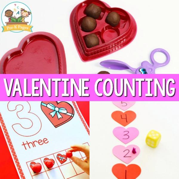 Valentine Counting Activities for Preschool