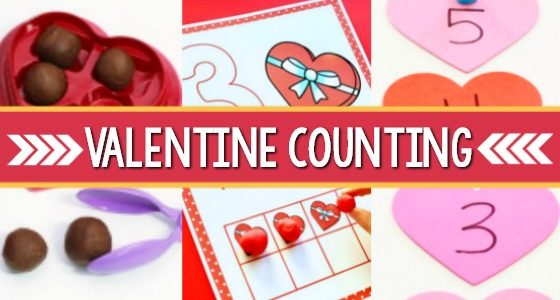 Valentine Counting Activities for Preschoolers