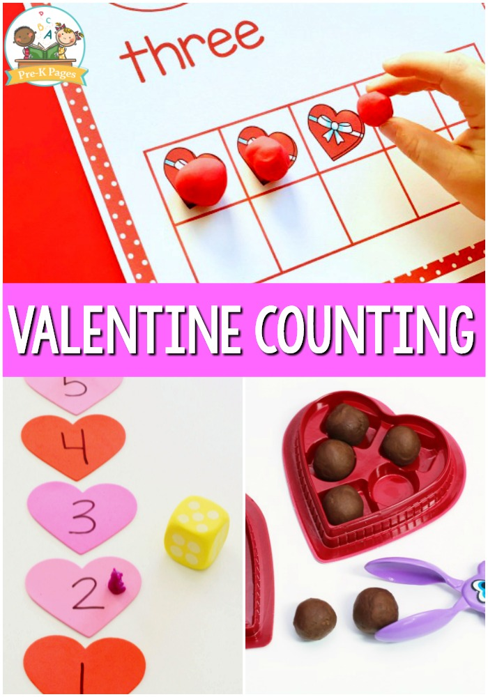 Valentine Theme Counting Activities