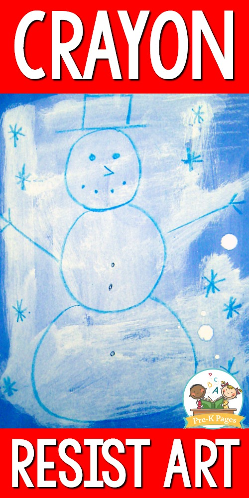 Wax Crayon Resist Snowman Art