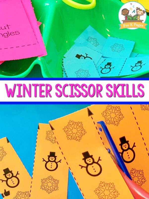 Winter Fine Motor Cutting Practice
