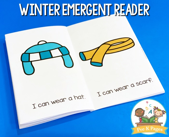 Winter Emergent Reader Printable