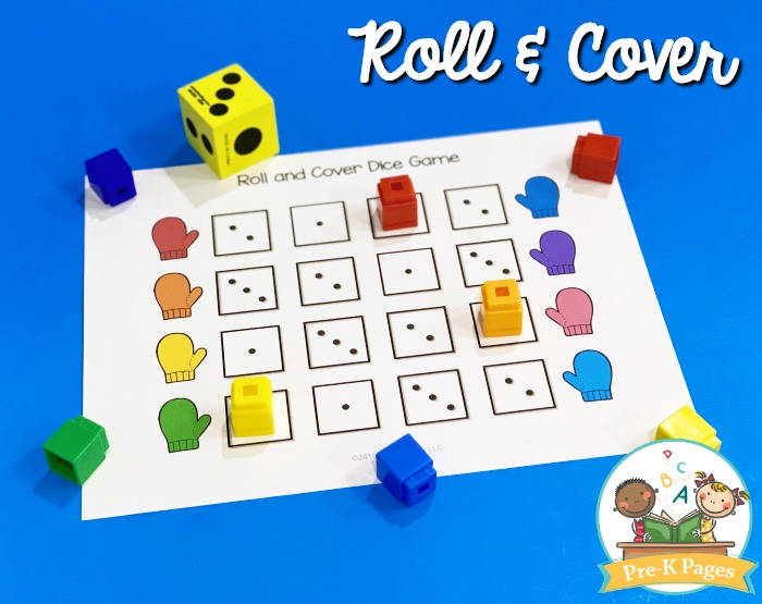 Winter Roll and Cover Math Game