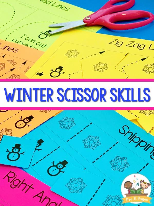 Winter Scissor Skills Practice