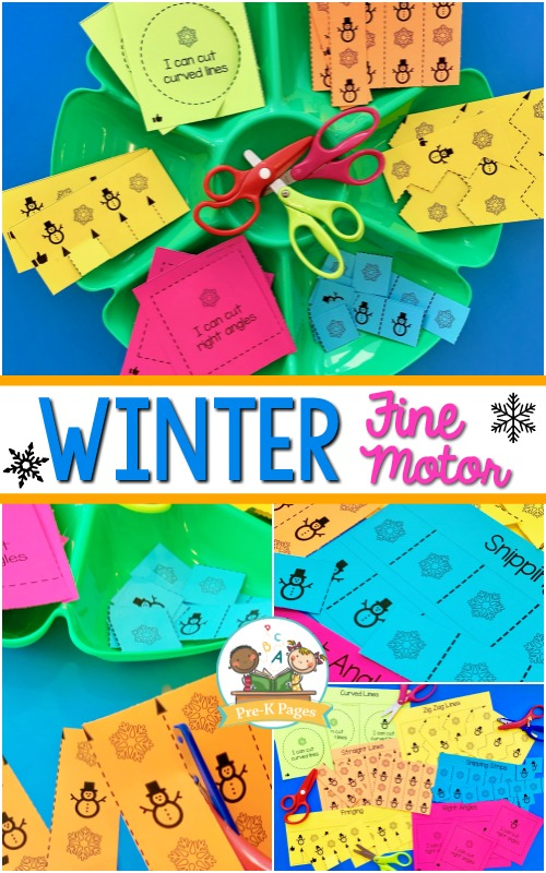 Winter Theme Fine Motor Cutting Practice
