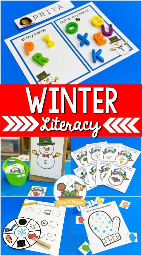 Winter Theme Literacy Activities for Preschool