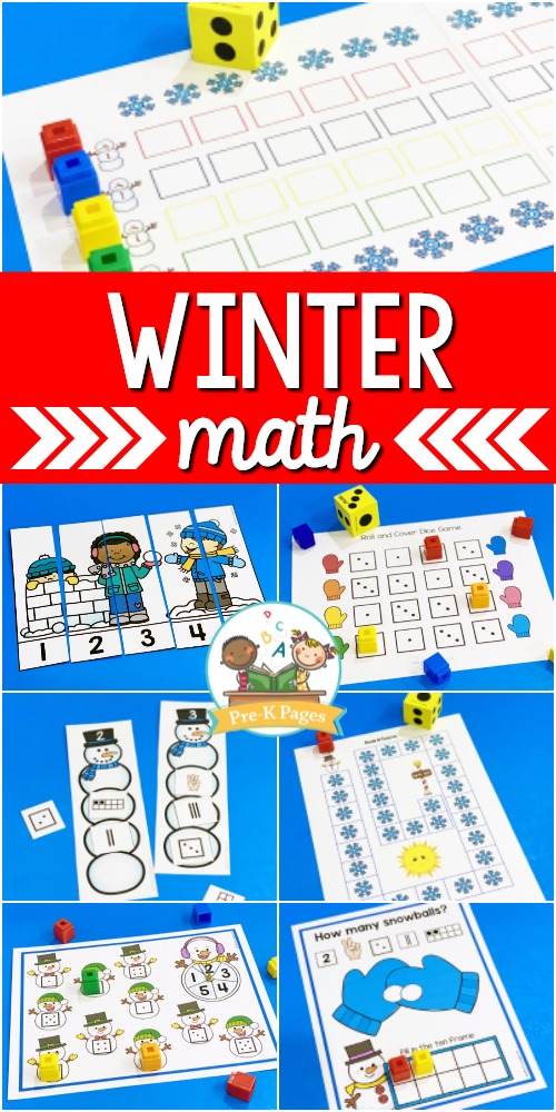 Winter Theme Math Activities for Preschool