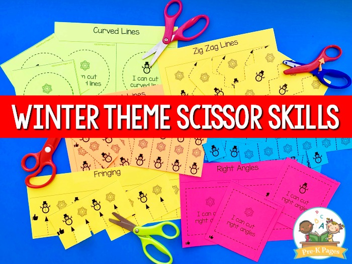 Winter Theme Scissor Skills Practice