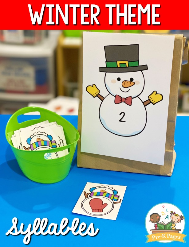 Winter Theme Syllable Activity