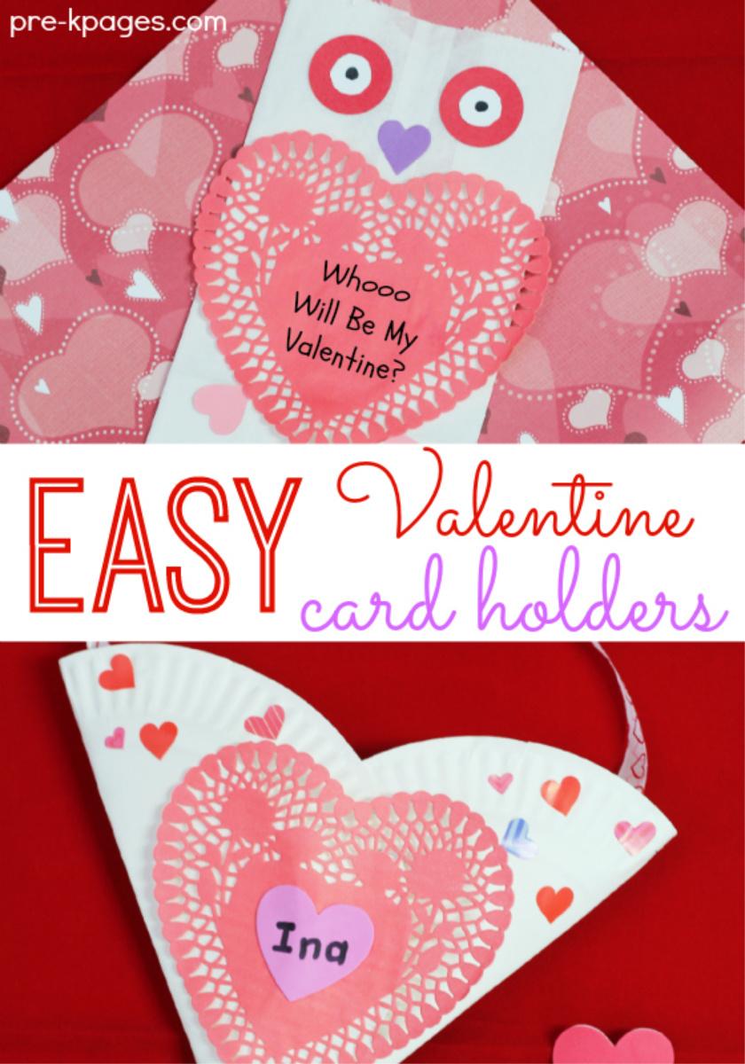 easy valentines holders pre-k
