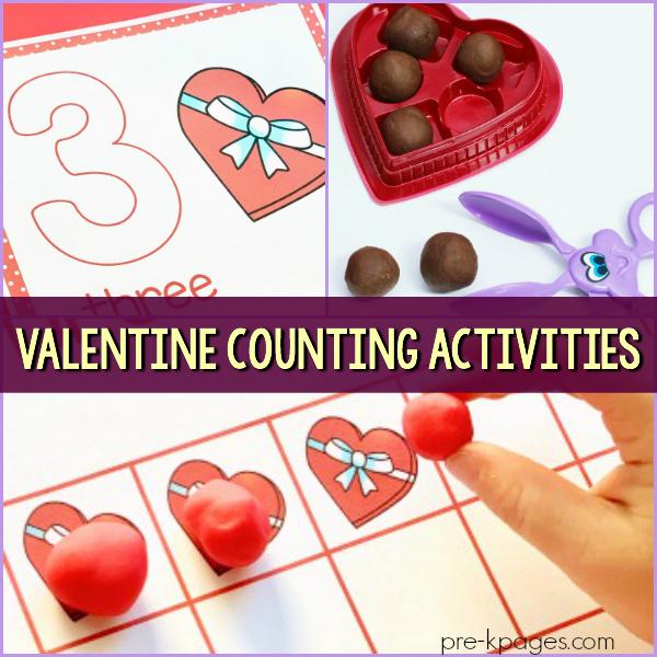 math center February activities pre-k