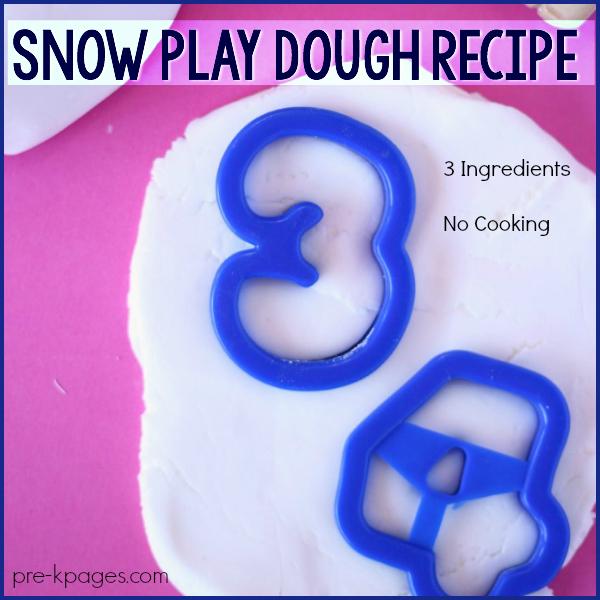 snow playdough Pre-K