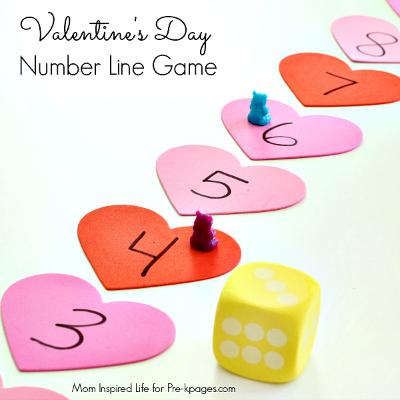 valentines day number line preschool