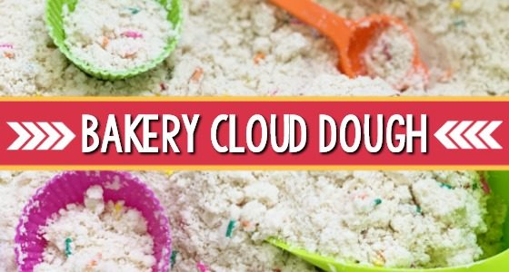 Bakery Theme Cloud Dough Sensory Bin
