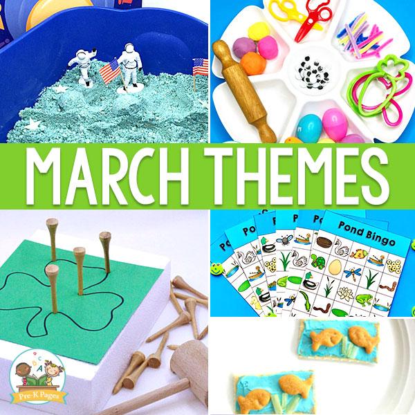 march curriculum theme for preschool