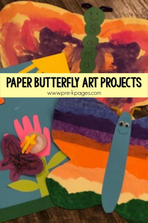 easy paper butterfly art pre-k