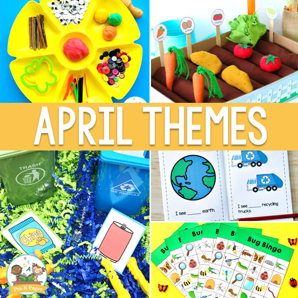 curriculum themes for pre-k April