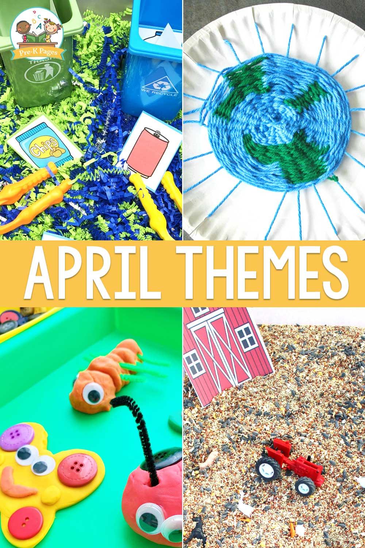 April curriculum themes for preschool