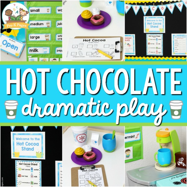 Hot Chocolate Dramatic Play for Winter