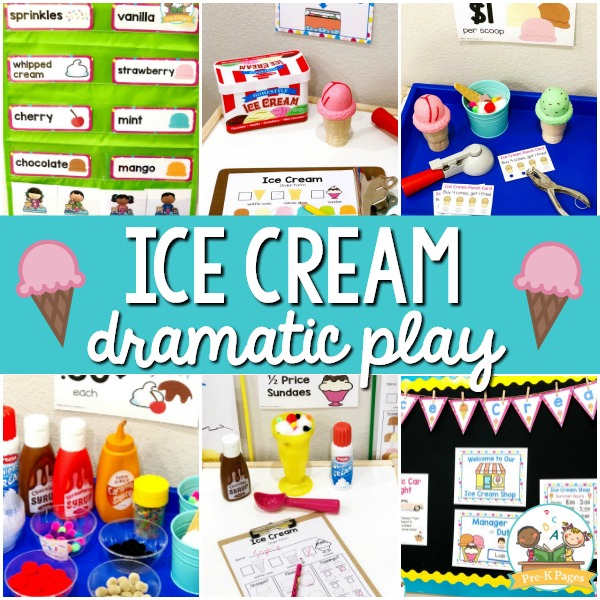 Ice Cream Dramatic Play Center