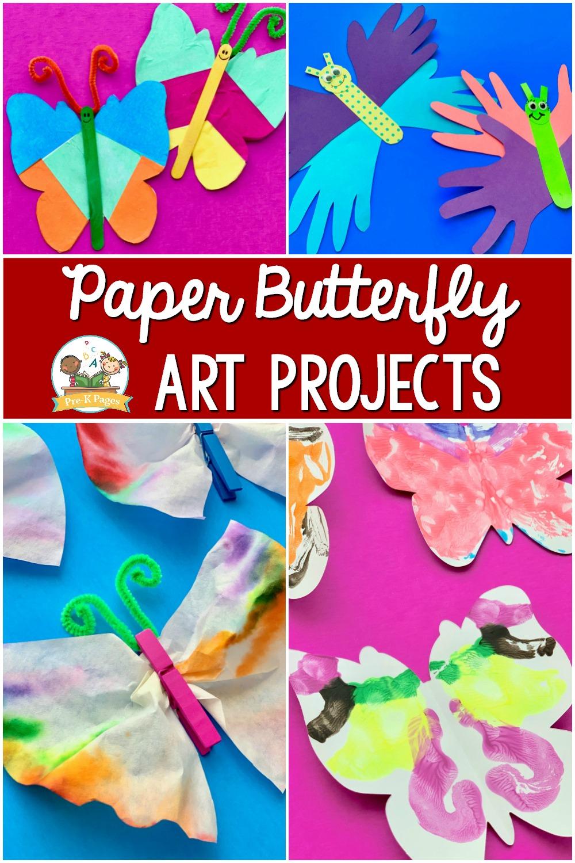 Paper Butterfly Art Projects for preschool