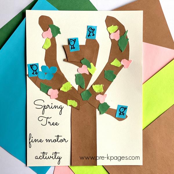 Spring Tree fine motor activity preschool