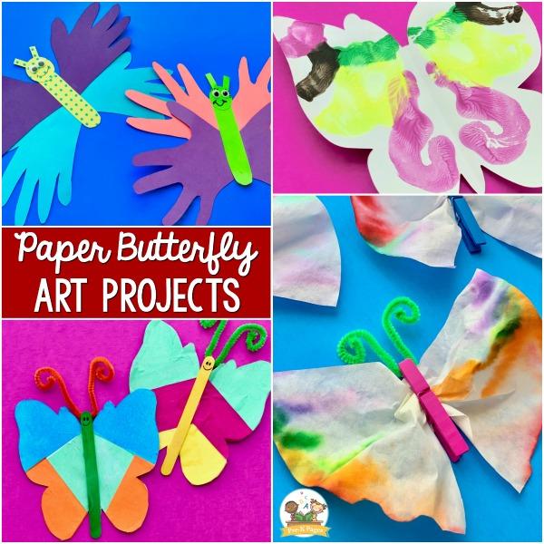 paper butterfly art ideas for pre-k