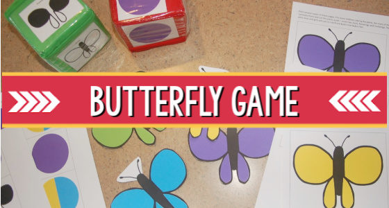 Butterfly Matching Game for Preschoolers