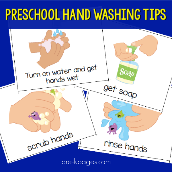 tips for wash hands pre-k