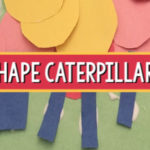 shape caterpillars spring art pre-k