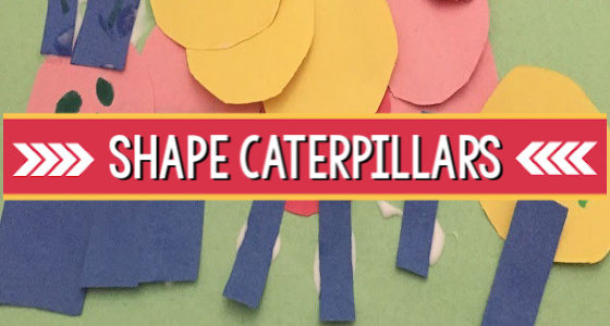 Caterpillar and Butterfly Life Cycle Art Activity: Shape Caterpillars