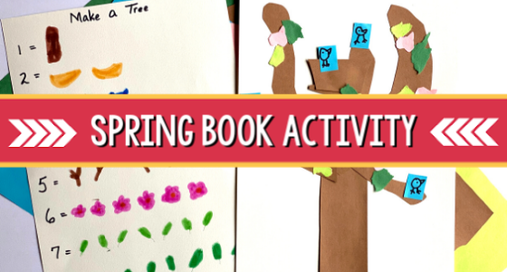 spring book activity preschool