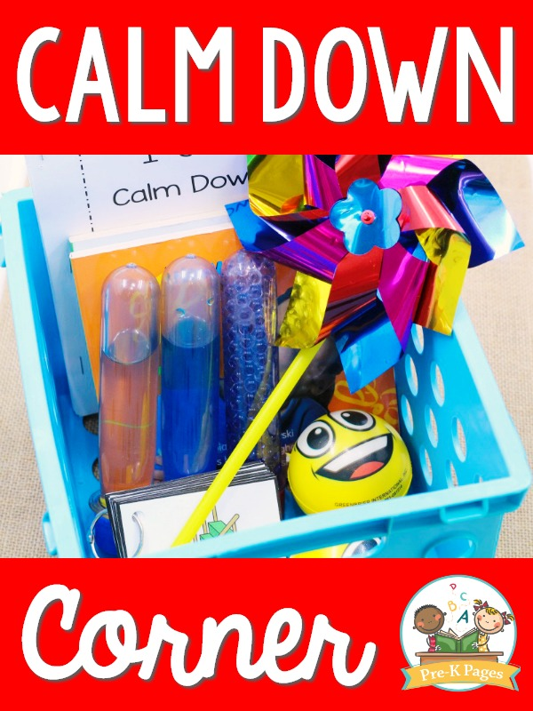 Calm Down Corner in Preschool